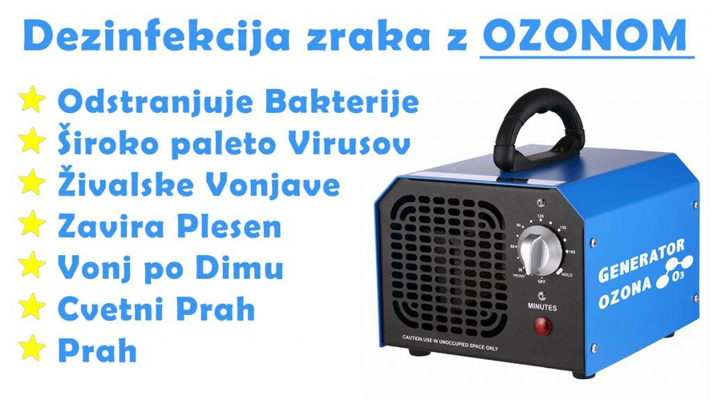 Dezinfekcija zraka z ozonom