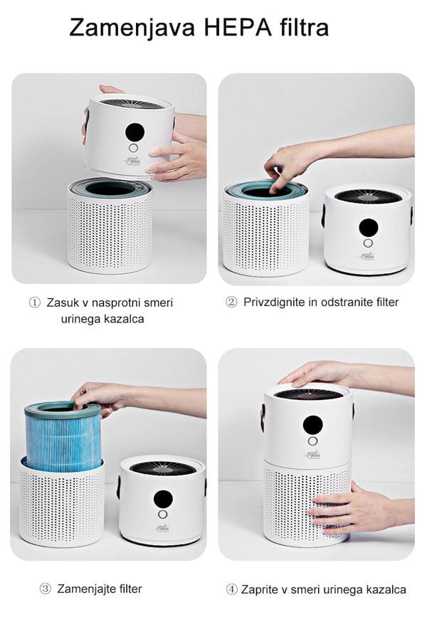 Zamenjava HEPA filtra za čistilec zraka z ionizatorjem